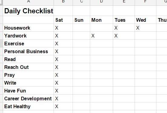 Daily Checklist2